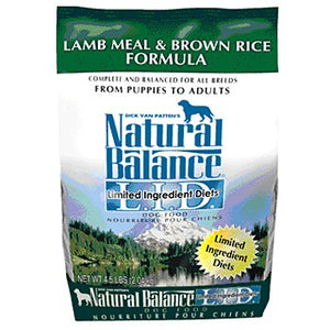 Natural Balance Lamb and Rice Dog