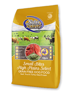 Nutrisource Grain Free Small Bites High Plains Select Dog