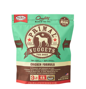 Primal Frozen Raw Dog Food- Chicken Nuggets