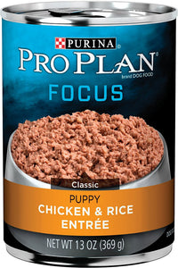 Pro Plan Focus Chicken and Rice Puppy Dog Canned