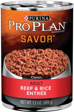 Pro Plan Savor Beef and Rice Adult Dog Canned