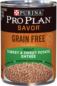 Pro Plan Savor Grain Free Turkey and Sweet Potato Adult Dog Canned