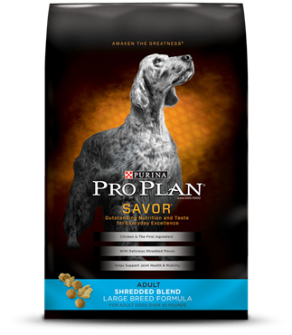 Pro Plan Savor Shredded Blend Large Breed Chicken and Rice Adult Dog