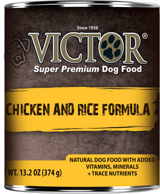 Victor Chicken and Rice Dog Canned