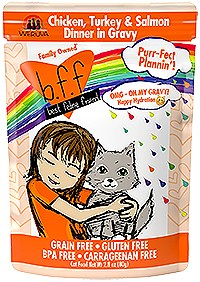 BFF Weruva OMG Purrfect Plannin' Chicken, Turkey & Salmon Cat Pouch