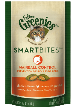 Feline Greenies- Smart Bites Hairball Control Chicken