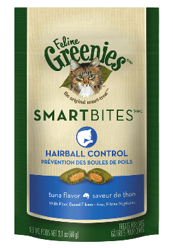 Feline Greenies- Smart Bites Hairball Control Tuna