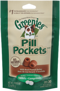 Pill Pockets- Peanut Butter Tablets