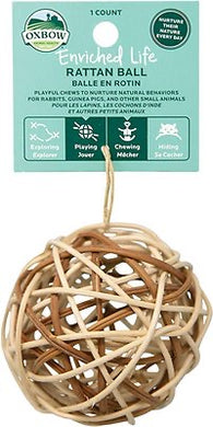 OxBow Rattan Ball Toy