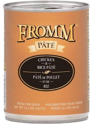 Fromm Chicken and Rice Pate Dog Canned