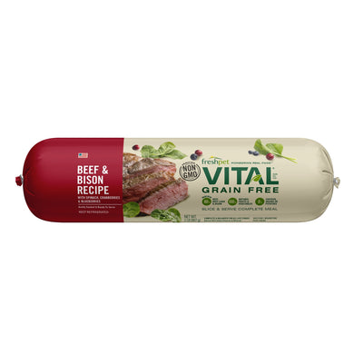 Freshpet Vital Grain Free Roll Beef and Bison