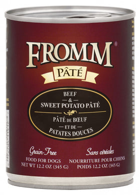 Fromm Beef and Sweet Potato Pate Dog Canned