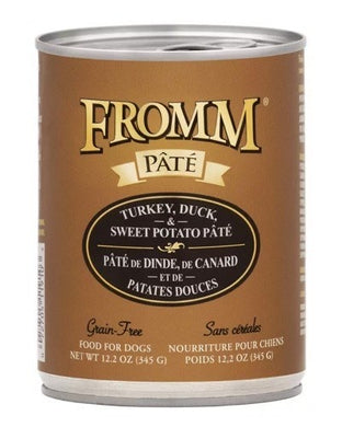 Fromm Turkey Duck and Sweet Potato Pate Dog Canned