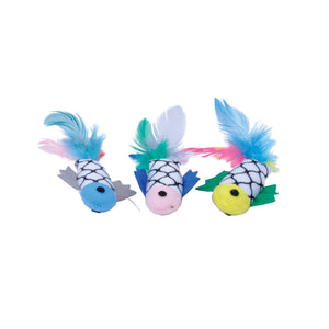 Turbo Cat Fish With Feathers Cat Toy