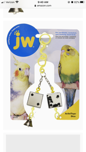 JW Activitoys Dice Toy for Parakeets, and Cockatiels
