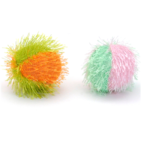 Coastal Cat Fuzzy Balls Cat Toy