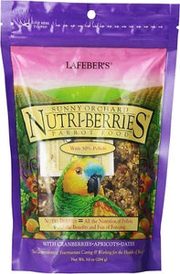 Nutri-Berries Sunny Orchard Parrot Food With Cranberries Apricots & Dates