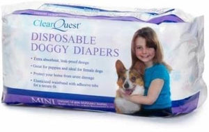 Clear Quest Disposable Doggy Diapers