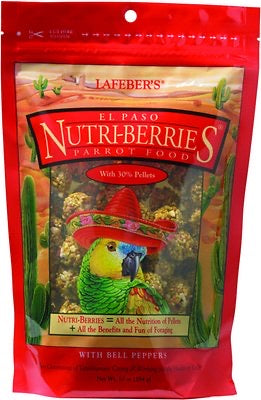 El Paso Nutri-Berries Parrot Food with Bell Peppers