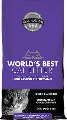 World's Best Cat Litter- Lavender Scented Multiple Cat Clumping