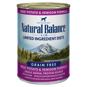 Natural Balance Sweet Potato and Venison Dog Canned