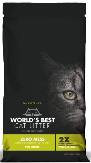 World's Best Cat Litter- Zero Mess Pine Scented