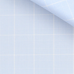 Marion - Light Blue Check Twill