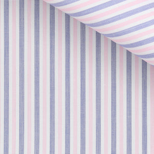 Oscar - Pink and Blue Stripe Poplin