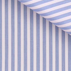 Abner - Blue and Pink Stripe Poplin