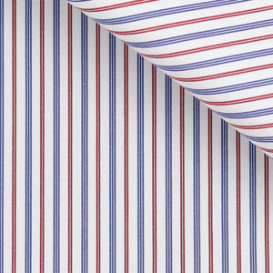 Emory - Blue and Red Stripe Poplin