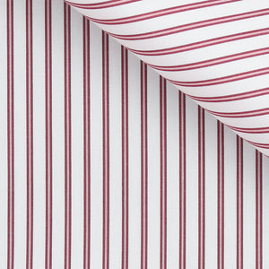 Hubert - Red Stripe Poplin