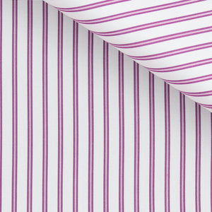 Hubert - Purple Stripe Poplin