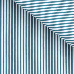 Edward - Teal Stripe Poplin