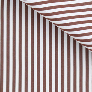 Frederick - Brown Stripe Poplin
