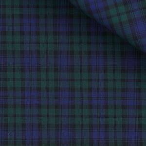 Harry - Blue and Grean Plaid Poplin