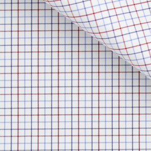 Orville - Blue and Red Check Twill