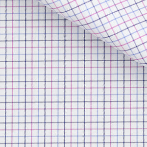 Orville - Pink and Blue Check Twill