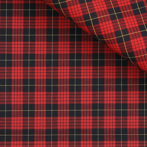 Jesse - Red and Black Plaid Poplin