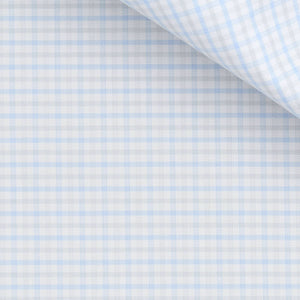 Roswell - Blue and Grey Check Twill