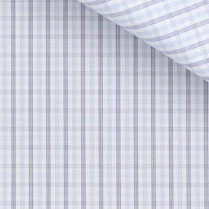 Don - Blue and Purple Check Poplin