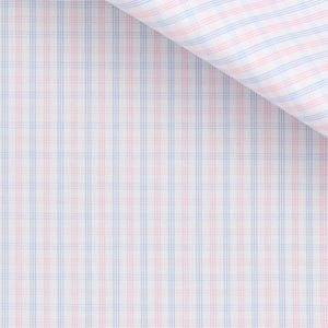 Don - Blue and Pink Check Poplin