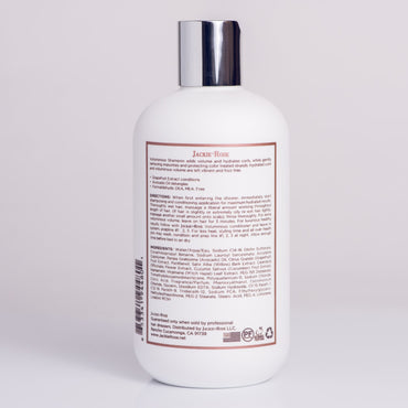 Voluminous Shampoo by Jackie Rose - back of bottle