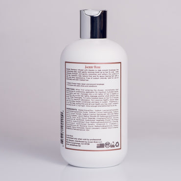 Keratin Shampoo by Jackie Rose - back of bottle