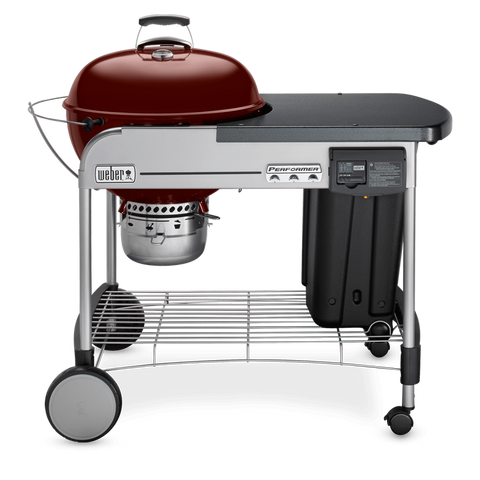 "22"" Performer Deluxe Charcoal Grill-CRIMSON"