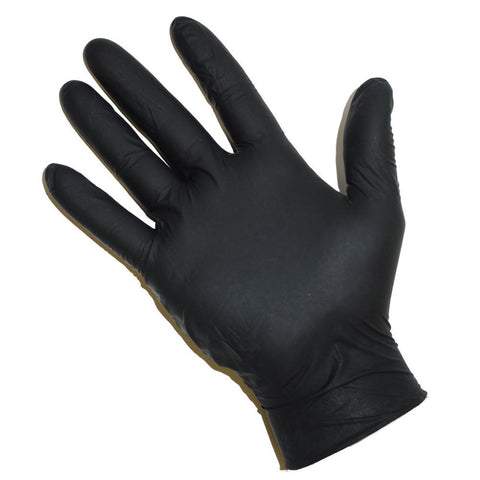 Food Service Black Nitrile Gloves - 100 - Dickson Barbeque Centre Canada