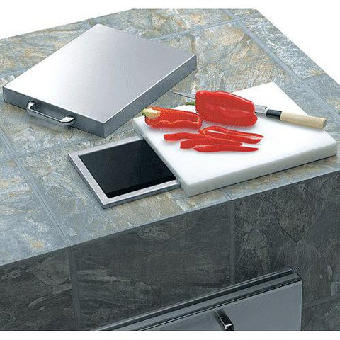 Lynx Trash Chute with Cutting Board & Cover - Dickson Barbeque Centre Canada