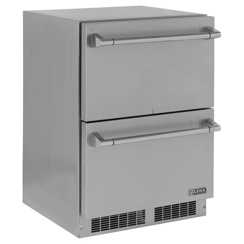 "Lynx 24"" Outdoor Refrigerator-2 Drawer - Dickson Barbeque Centre Canada"
