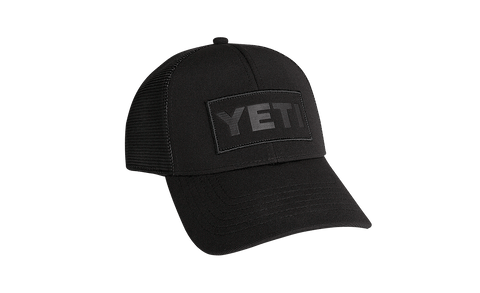 Yeti Black on Black Patch Trucker Hat - Dickson Barbeque Centre Canada