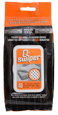 Proud Grill Co. Q-SWIPER™ Cleaning Wipes - 40 Pk. - Dickson Barbeque Centre Canada