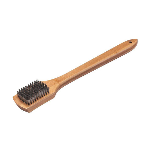"Weber 18"" Bamboo Grill Brush - Dickson Barbeque Centre Canada"